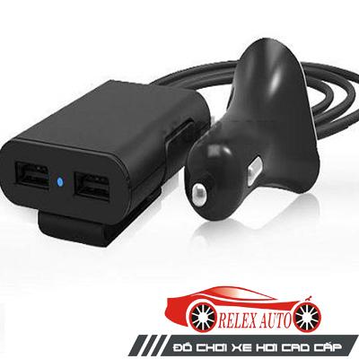 Tẩu sạc điện thoại trên ô tô 4 USB chính hãng TOTU