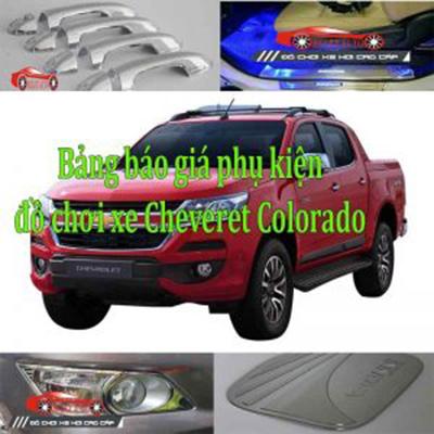 Bảng báo giá phụ kiện, đồ chơi xe Cheveret Colorado 2017, 2018