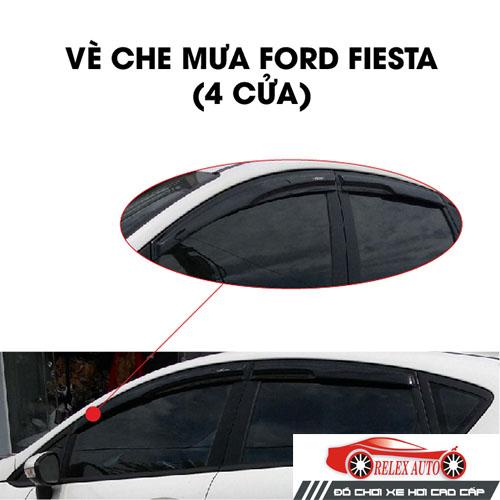 Vè mưa chỉ mạ 4 cửa Ford Fiesta