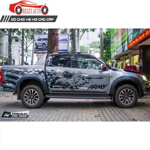Tem Dán Xe ô Tô hình Army cho xe bán tải