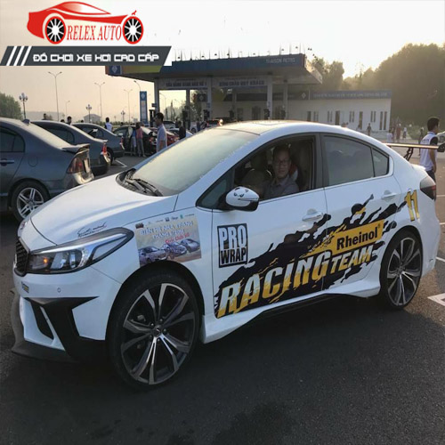 Tem Dán Xe ô Tô hình Racing Team