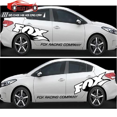 Tem Dán Xe ô Tô Hình Fox