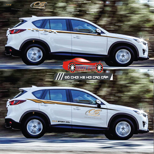 Những mẫu Tem dán sườn xe ô tô 7 Chỗ