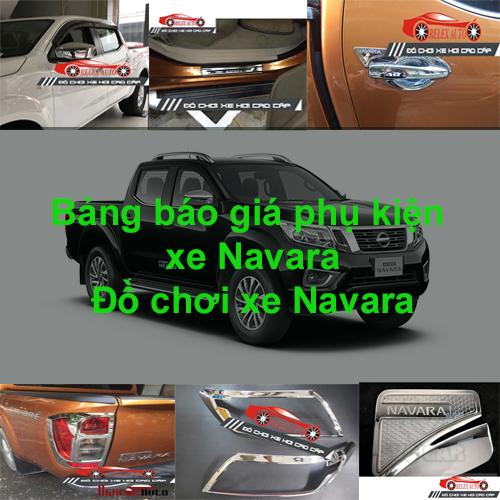 Báo giá phụ kiện, Đồ chơi Xe Nissan  NAVARA 2015, ...