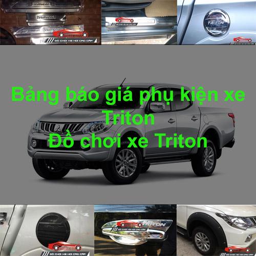 Báo giá phụ kiện, Đồ chơi Xe Mitsubishi Triton
