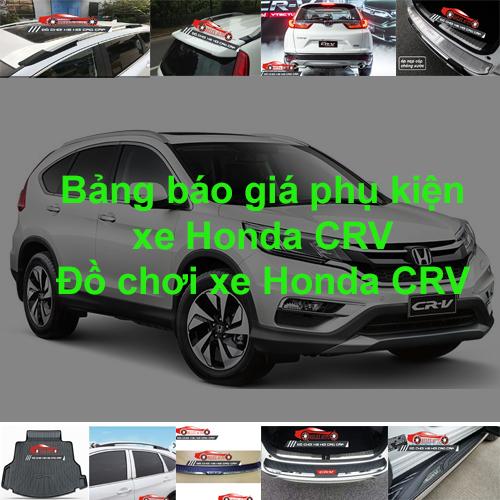 Báo giá phụ kiện, Đồ chơi Xe Honda CRV