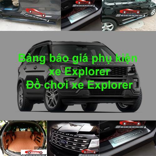 Báo giá phụ kiện, Đồ chơi Xe Ford Explorer