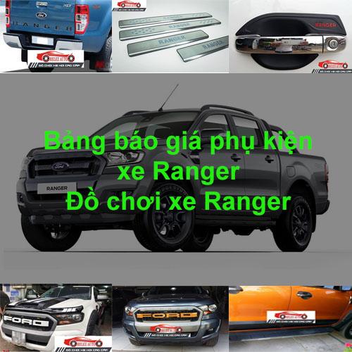 Báo giá phụ kiện, Đồ chơi Xe Ford Ranger