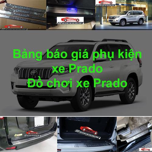 Báo giá phụ kiện, Đồ chơi Xe Toyota Prado  2015, 2...